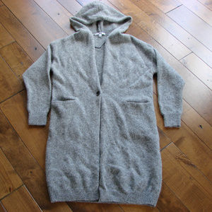 Uniqlo Gray Hooded Button Front Cardigan ~ XS